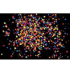 Confetti black rectangle vector