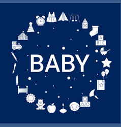creative baby icon background vector image