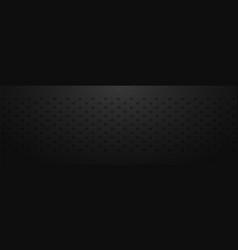 dark background with black circles with shades vector image
