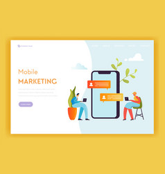 digital marketing technology landing page template vector image
