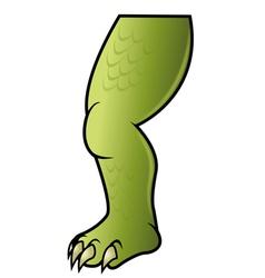 dinosaur leg vector image