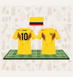Football colombia sport wear tshirt vector