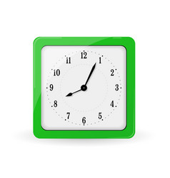 green square alarm clock vector image