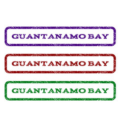 guantanamo bay watermark stamp vector image