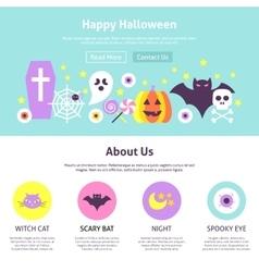 Happy Halloween Website Design vector
