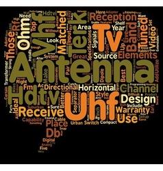 Hdtv antennas text background wordcloud concept vector