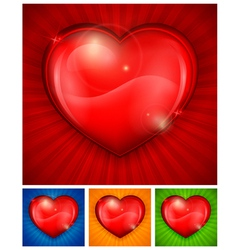 heart color background vector image