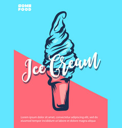 ice cream hand lettering custom typography vector image