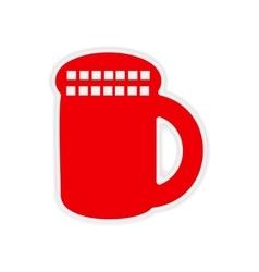 Icon sticker realistic design on paper cover vector
