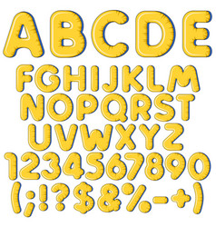 inflatable alphabet letters numbers and signs vector image