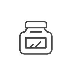 jar line icon vector image