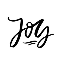 joy to the world holiday lettering vector image