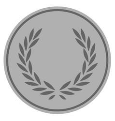 Laurel wreath silver coin vector