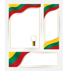 Lithuania flag banners set vector
