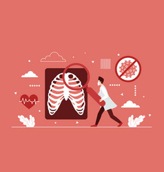 lung health research hospital radiology vector image