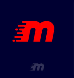 m letter winds movement dynamic logo velocity vector image