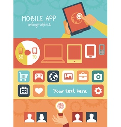 Mobile app development infographics vector