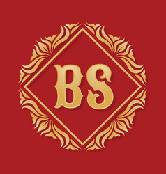 Monogram bs letters - concept logo template design vector