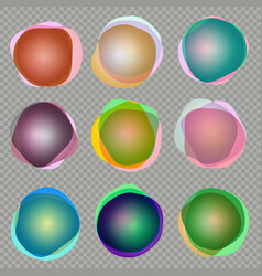 olorful 3d round banners eps 10 vector image