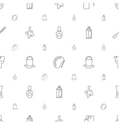 paint icons pattern seamless white background vector image