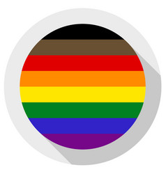 Philadelphia pride flag or lgbtq pride flag round vector