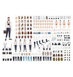 Photographer or photo journalist constructor kit vector