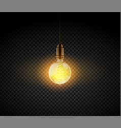 realistic light bulb electric retro lamp vector image