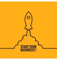 Rocket Launch Logo Business Start Background vector image