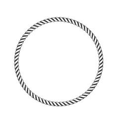 round marine rope vector image