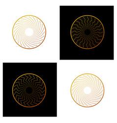 Set of retro vintage insignias or logotypes vector