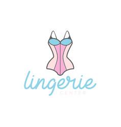 sexy woman female lingerie underwear store shop vector image