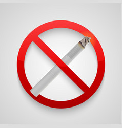 Sign no smoking allowed vector