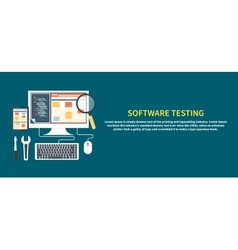 Software testing concept vector image