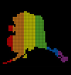 Spectrum dotted lgbt alaska map vector