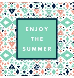 summer hipster boho background vector image