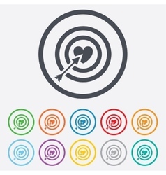 Target aim sign icon Darts board symbol vector image