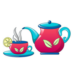 taste lemon tea icon cartoon style vector image