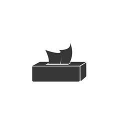 tissue box icon simple flat style vector image