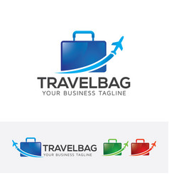 travel bag logo design vector image