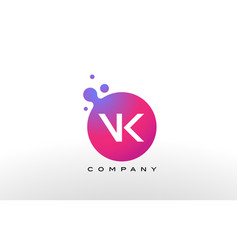 vk letter dots logo design with creative trendy vector image