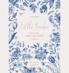 wedding invitation little garden vector image