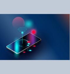 Wi-fi smartphones security controls futuristic vector