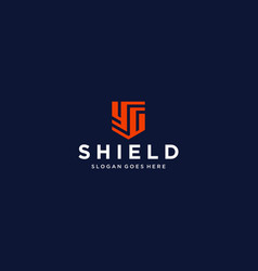 yg shield logo vector image