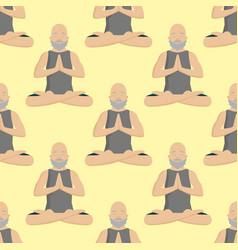 Yoga positions mans characters class meditation vector