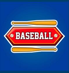 baseball players community emblem with bats and vector image vector image