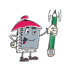 character notebook mascot vector image