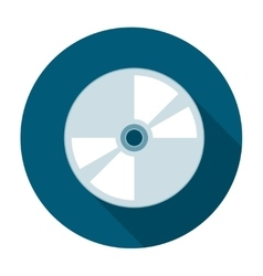 Compact disk icon flat vector