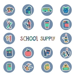 hand drawn school supply icons Knowledge science vector image