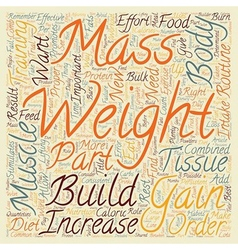 How To Gain Weight And Increase Muscle Mass text vector image