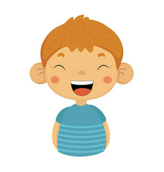 laughing out loud cute small boy with big ears in vector image
